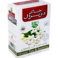چای سبز و گل ياسمین 100گرمی دوغزال