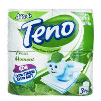 دستمال توالت لحظه های تازه 4رول(سبز)
