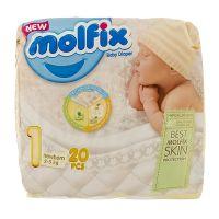 پوشک بچه نوزادی (2_4) 20 عددی 3 بعدی مولفیکس